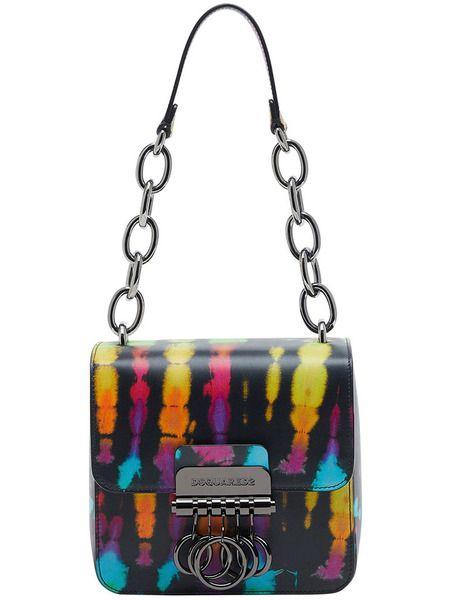 Маленькая сумка Key в стиле колор-блок Dsquared2 фото