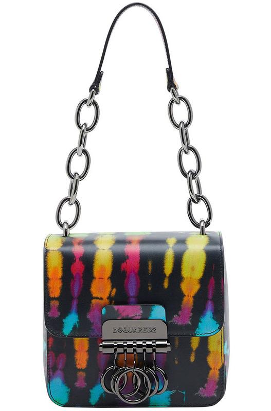 Маленькая сумка Key в стиле колор-блок Dsquared2, фото