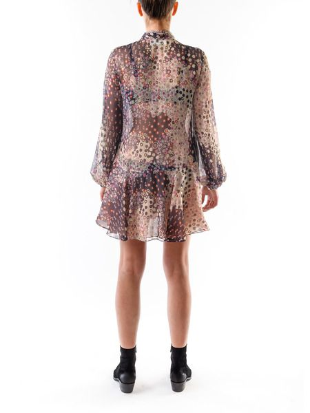 Шелковое короткое платье