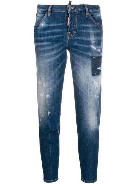Синие джинсы Cloudy с эффектом делаве Dsquared2 фото