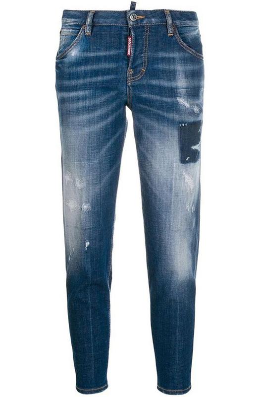 Синие джинсы Cloudy с эффектом делаве