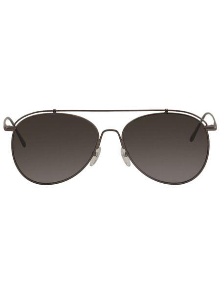 Солнцезащитные очки-авиаторы из бронзы CK2163S-61 Calvin Klein фото