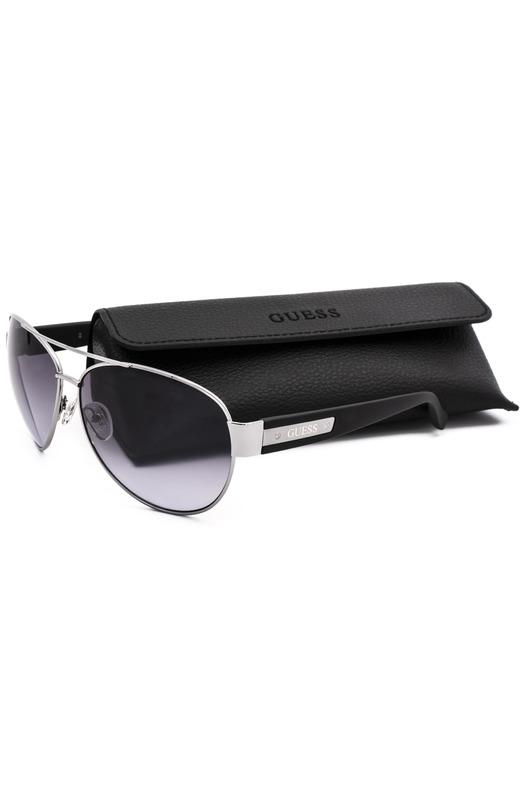 Солнцезащитные очки-авиаторы в серебристой оправе GU6830 08C Guess, фото