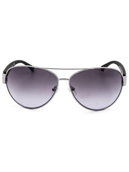 Солнцезащитные очки-авиаторы в серебристой оправе GU6830 08C Guess фото