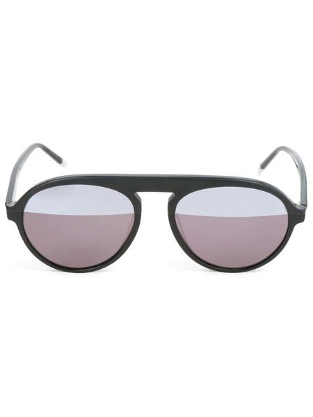 Очки-авиаторы с серыми линзами CK4350S 001 Calvin Klein фото