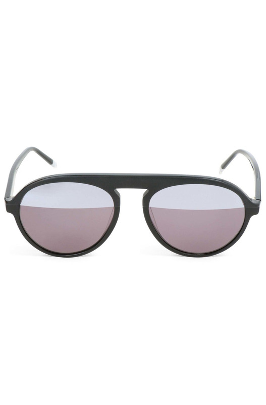 Очки-авиаторы с серыми линзами CK4350S 001 Calvin Klein, фото