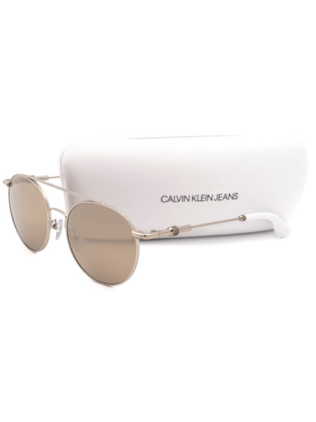 Солнцезащитные очки круглой формы CKJ163S 702 Calvin Klein Jeans, фото
