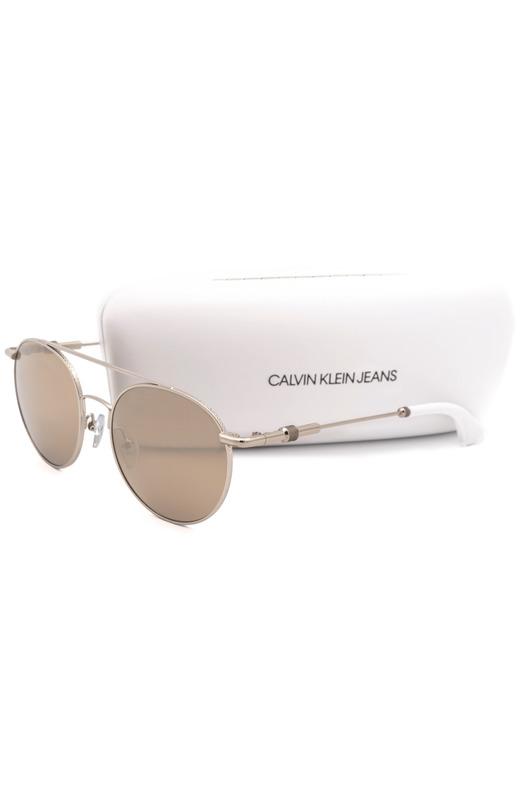 Солнцезащитные очки круглой формы CKJ163S 702 Calvin Klein Jeans