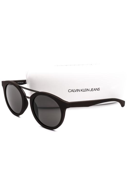 Солнцезащитные очки круглой формы CKJ817S 256 Calvin Klein Jeans, фото