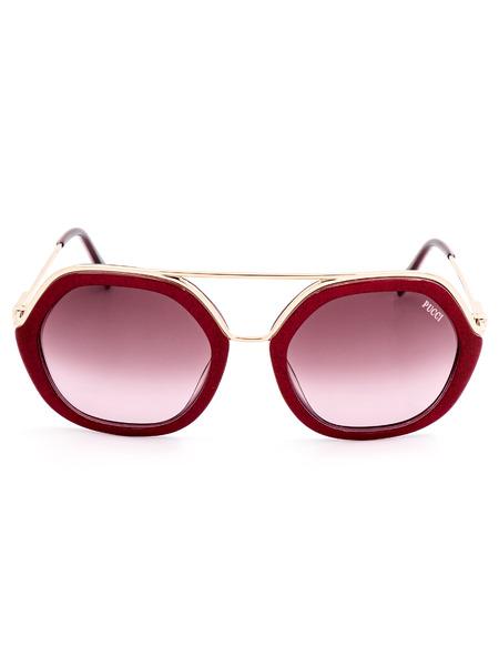 Солнцезащитные очки в оправе с красным тиснением EP0014 74T Emilio Pucci, фото