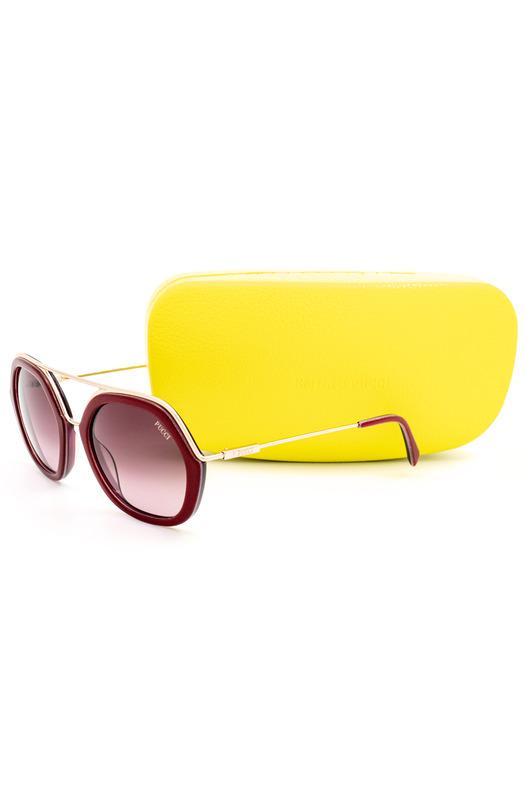 Солнцезащитные очки в оправе с красным тиснением EP0014 74T Emilio Pucci