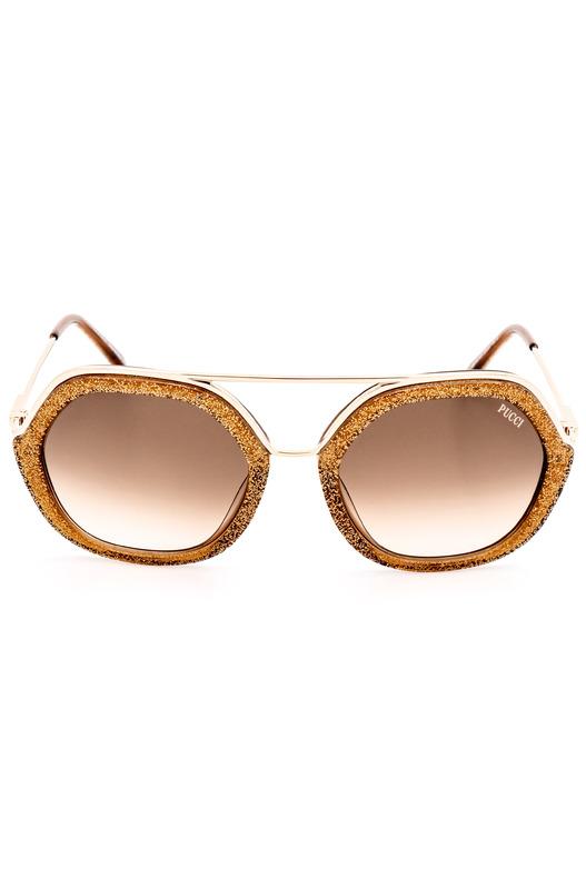 Солнцезащитные очки в оправе с золотистым тиснением EP0014 47F