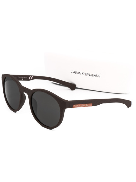 Солнцезащитные очки в толстой черной оправе CKJ799S 246 Calvin Klein Jeans, фото