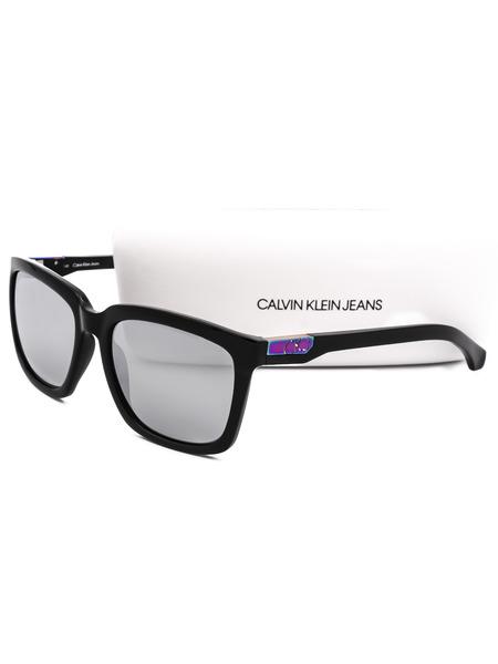 Солнцезащитные очки в толстой оправе CKJ750S 001 Calvin Klein Jeans, фото