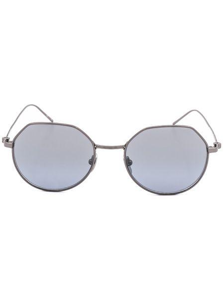 Круглые солнцезащитные очки в тонкой оправе CK18111S 39173 008 Calvin Klein фото