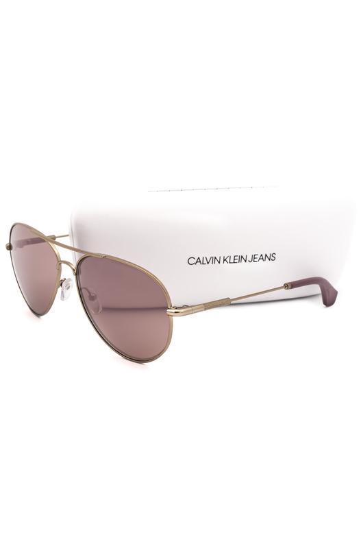 Солнцезащитные очки в золотистой оправе CKJ152S 702 Calvin Klein Jeans, фото