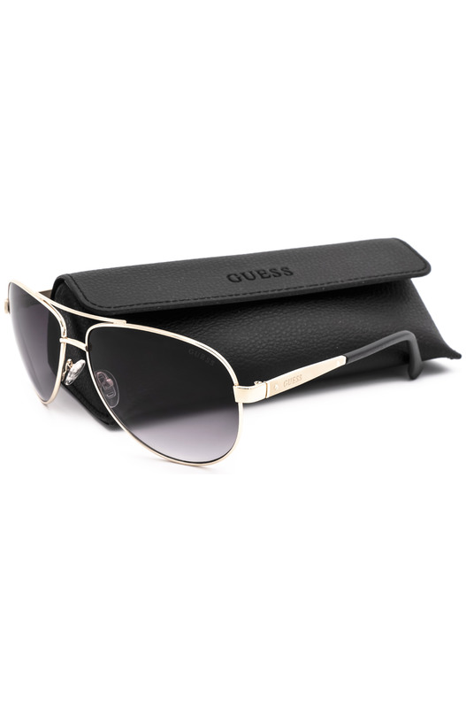 Солнцезащитные очки в золотистой оправе GU6829 H73 Guess, фото