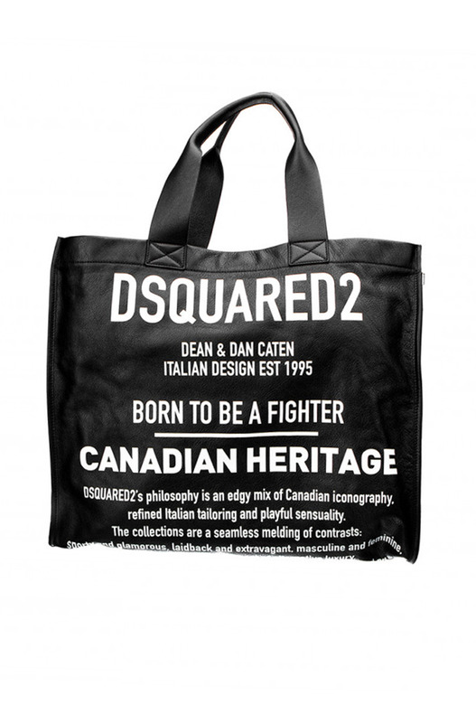 Сумка-шоппер с надписями Dsquared2