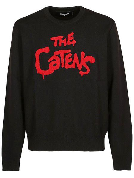 Свитер с вышивкой The Catens Dsquared2 фото