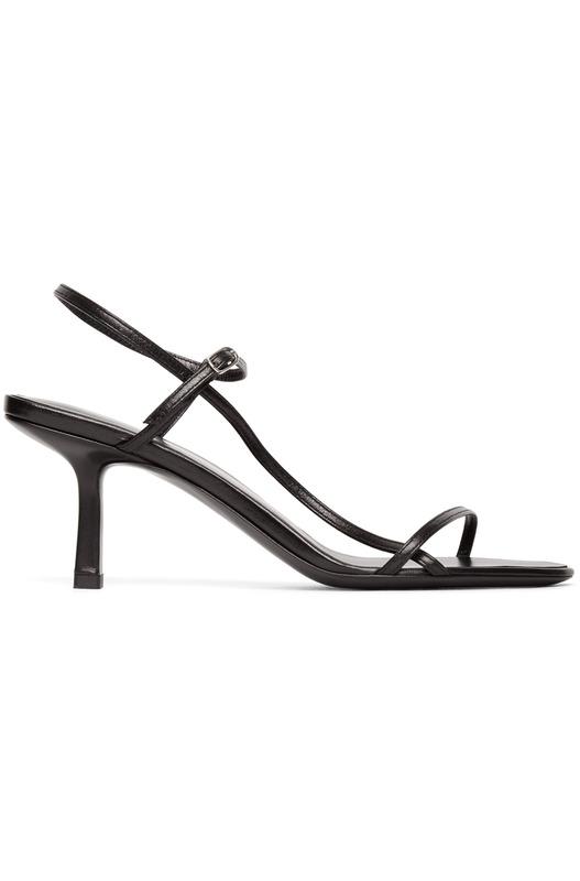 Черные босоножки на каблуке Bare 65MM