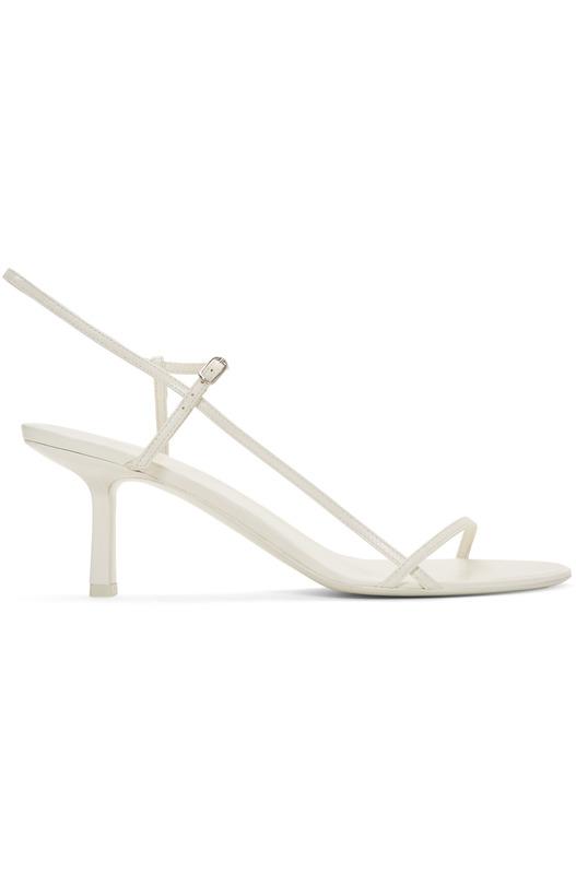 Белые босоножки Bare 65MM на каблуке