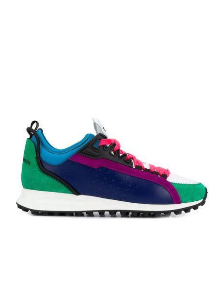 Цветные кроссовки со вставками