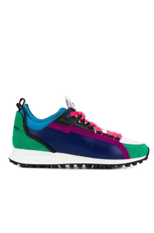 Цветные кроссовки со вставками Dsquared2, фото