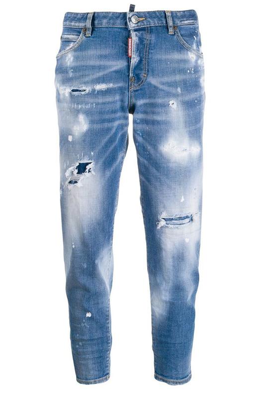 Укороченные джинсы с потертостями Dsquared2, фото
