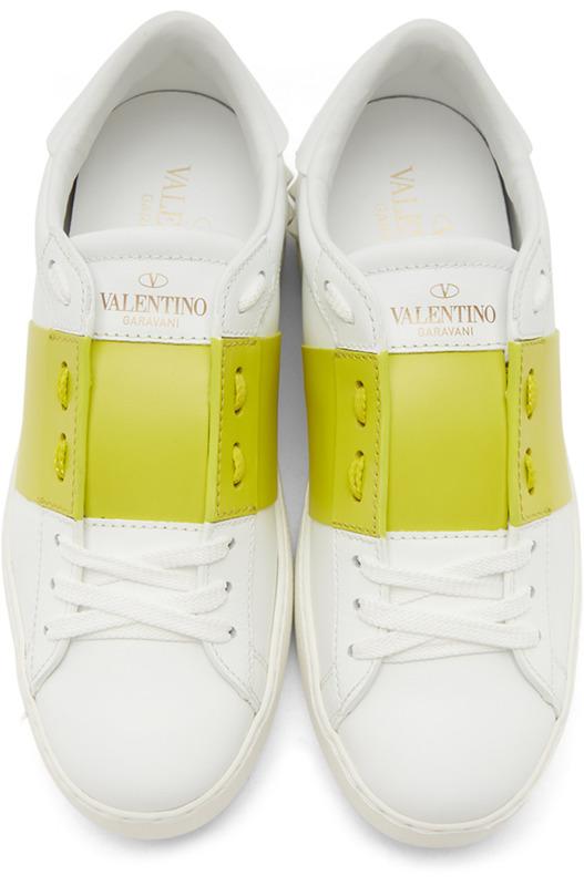 Белые кеды Open Valentino, фото