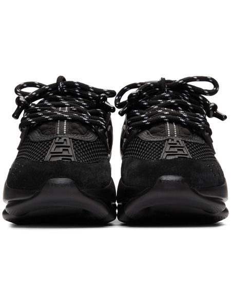 Черные кроссовки Versace Chain Reaction