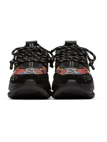 Черные кроссовки с принтом Chain Reaction