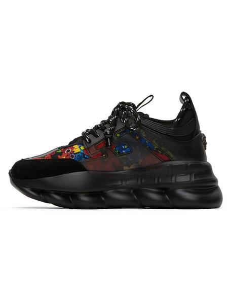 Черные кроссовки с принтом Chain Reaction Versace, фото