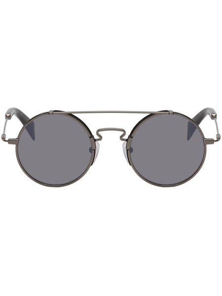 Черные солнцезащитные очки YY7018 Yohji Yamamoto фото