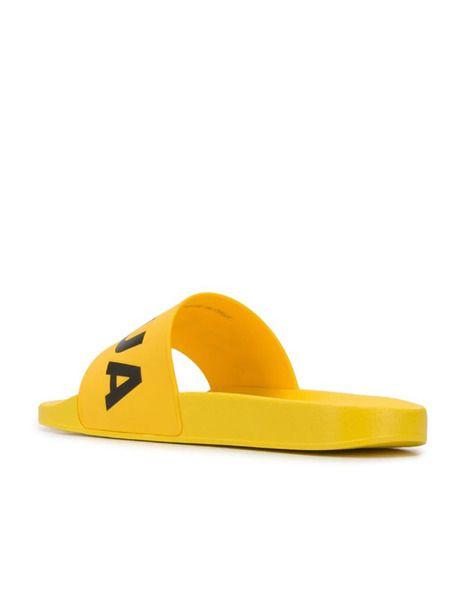 Желтые шлепанцы Dune