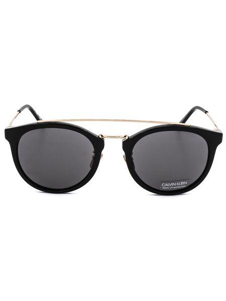 Женские черные круглые солнцезащитные очки CK18720S 001 Calvin Klein фото