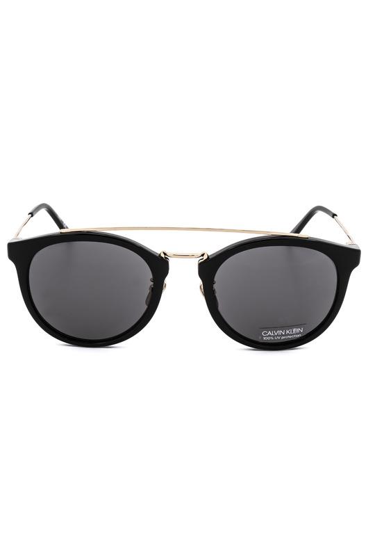 Женские черные круглые солнцезащитные очки CK18720S 001