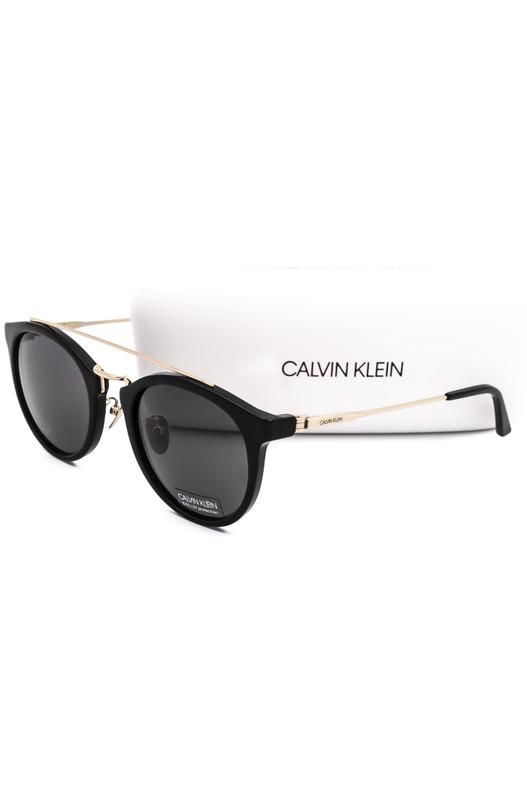 Женские черные круглые солнцезащитные очки CK18720S 001 Calvin Klein, фото